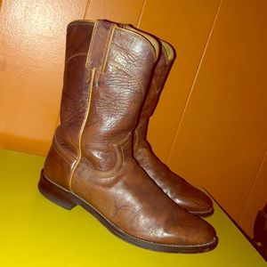 Justin Jackson Roper Brown Leather Cowboy Boots